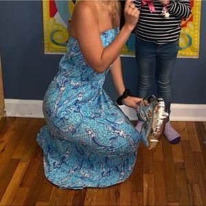 Mermaid strapless dress